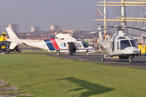 2 agusta a109 helicopters