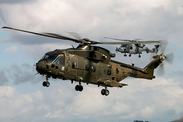 Merlin and Wildcat helicopter