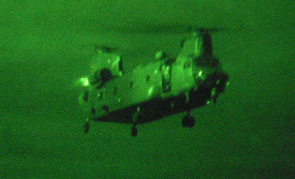 7 Sqn Chinook night vision