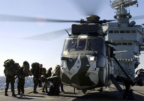 sea king Royal Marines