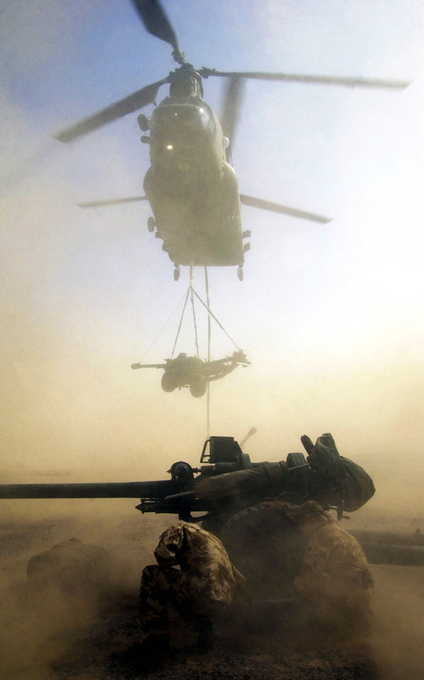 29 Commando Royal Artillery - chinook