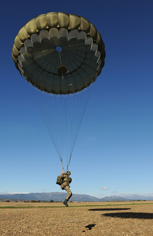 low level parachute