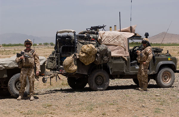 raf regiment land rover