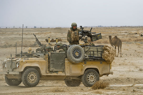 raf regiment - wmik land rover