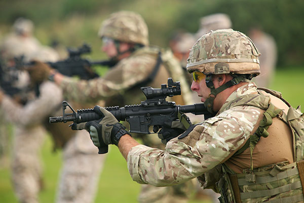 Royal Marines with C8 CQB