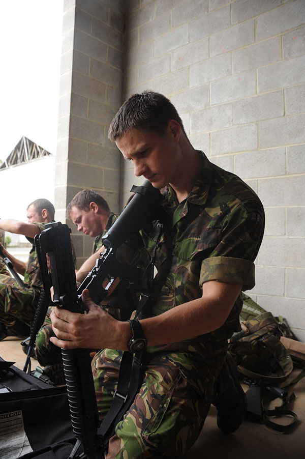 Royal Marines - m16 rifles