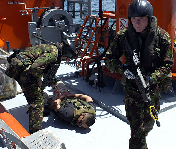 fleet protection group Royal Marines - securing crew