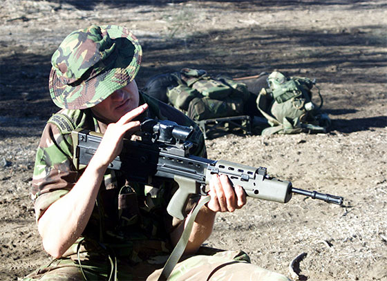 Royal Marines Commando with SA80