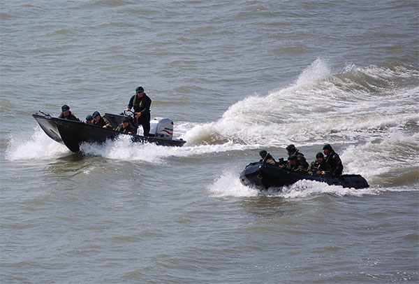 Royal Marines - rigid raider - inflatable raiding craft