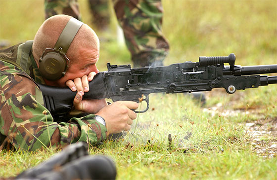 Royal Marines Commando with GPMG