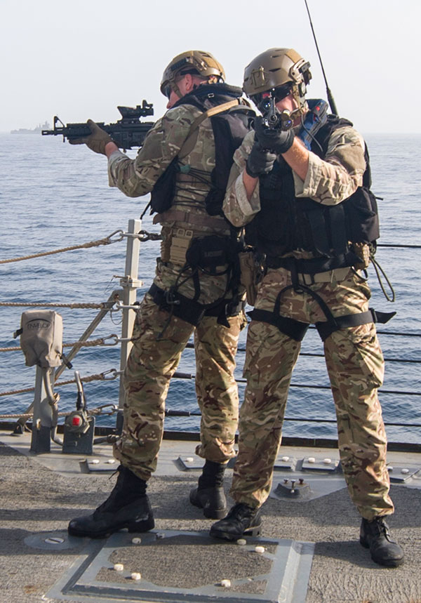 Royal Marines armed with L119A1 carbines