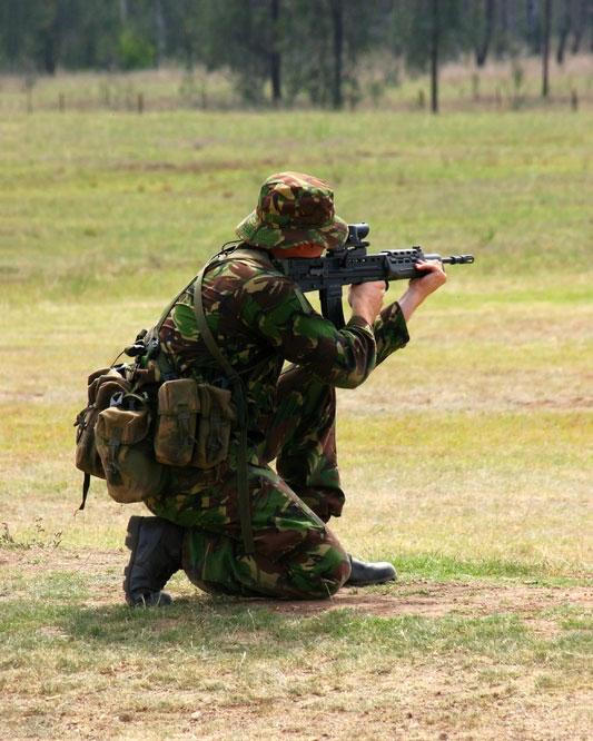 Royal Marines Commando with sa80a2