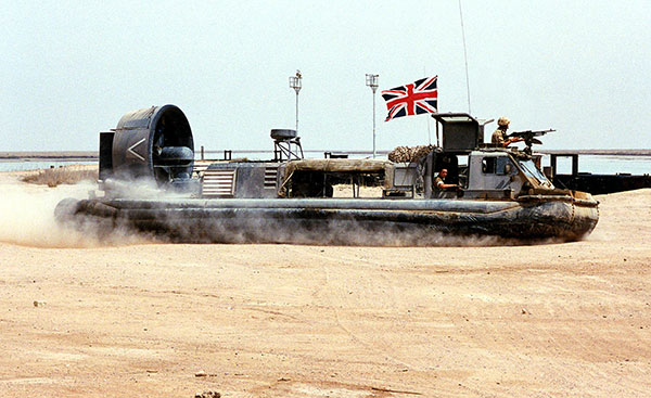 Royal Marines hovercraft.