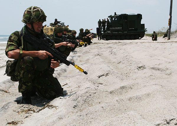 Royal Marines - securing beach