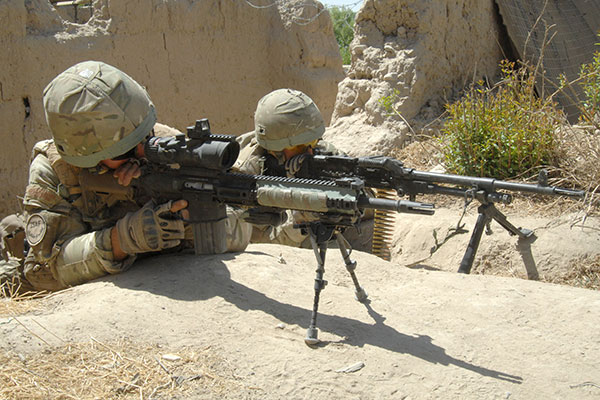 Royal Marines sharpshooter gpmg