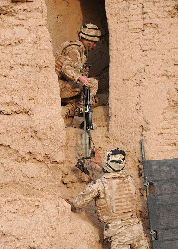 Royal Marines Operating Inside Compound