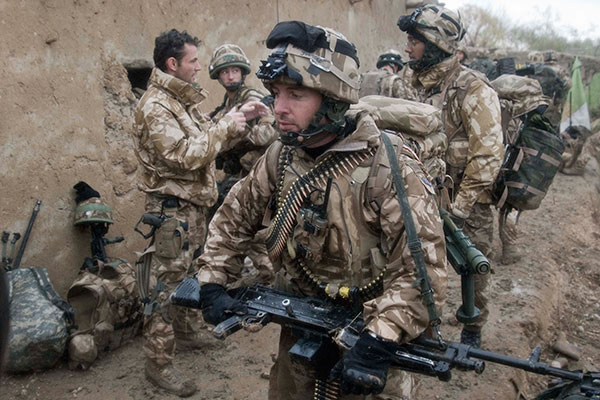 Royal Marine with GPMG
