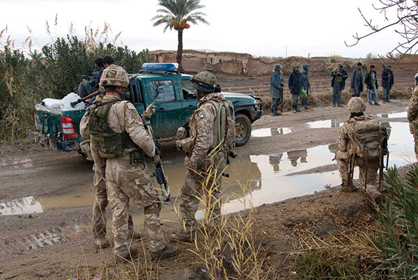 Royal Marines with Afghan Forces