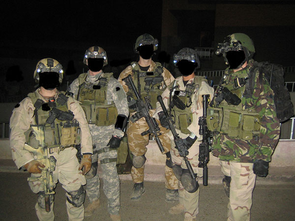 SAS / SFSG operators with Task Force Black. TF Black carried out ...