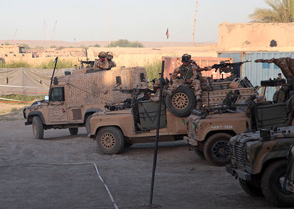 British Army Land Rovers