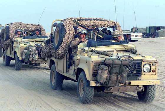 UK recon land rovers