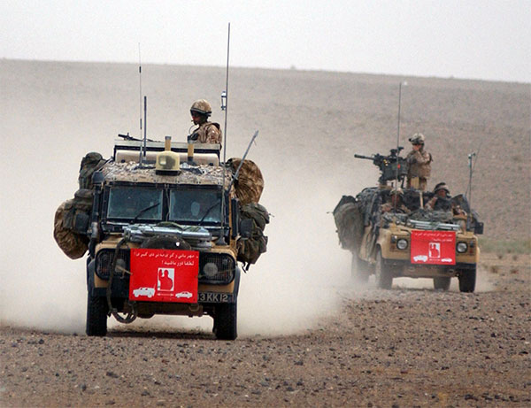 raf regiment land rovers