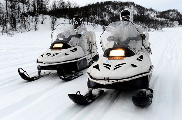 Royal Marines Snow Mobile