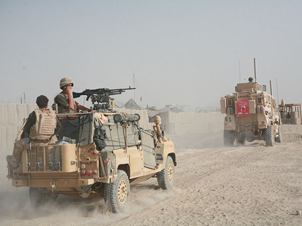 British Army WMIK Land Rover Afghanistan