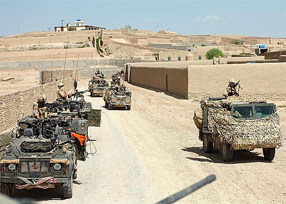 wmik land rovers in Afghanistan