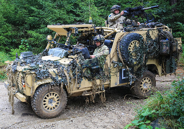 Land Rover WMIK - UKSF Gear