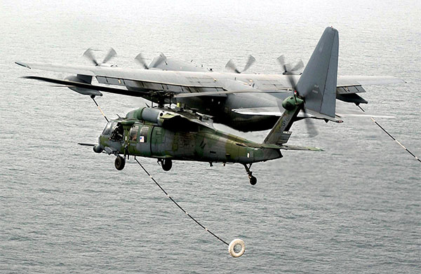 helicopter refueling mid-air