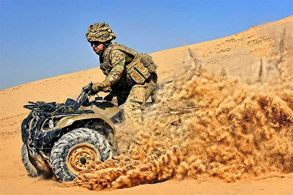 SAS Carry Out Quad Bike Raids In Iraq