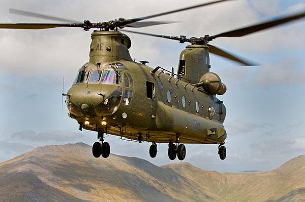 RAf Chinook helicopter