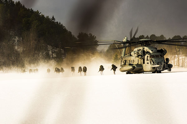 Royal Marines - Super Stallion helicopter
