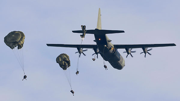 Parachutists from 16 Air Assault Brigade