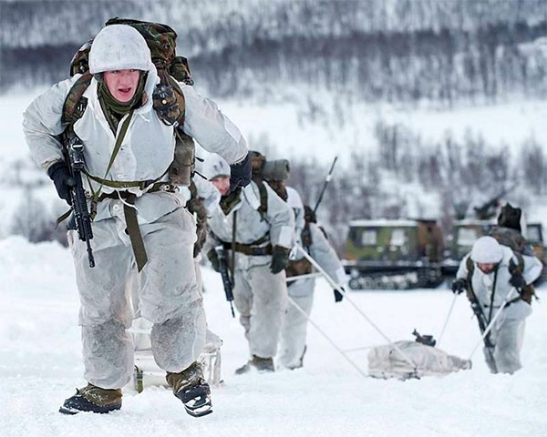 45 Commando arctic warfare specialists
