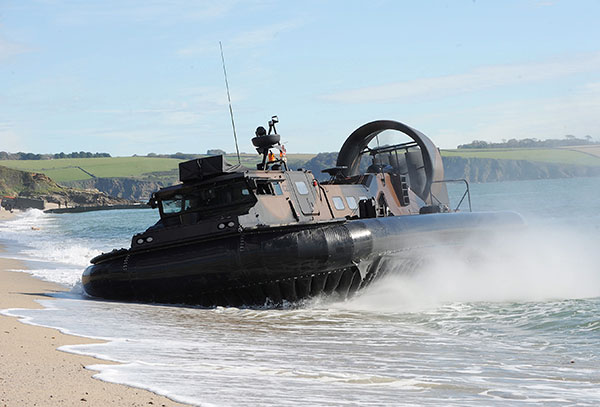 Royal Marines hovercraft