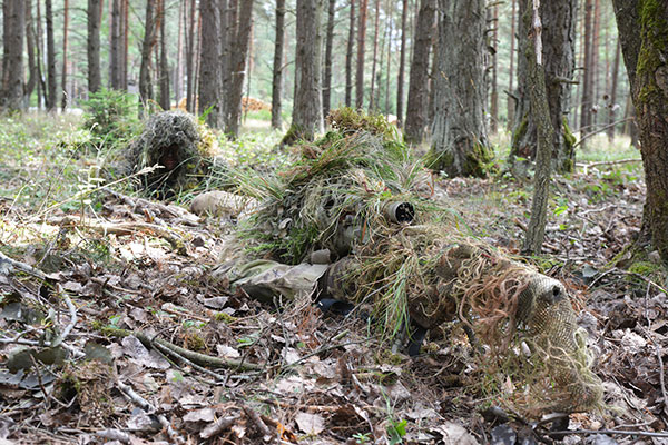 snipers in ghillie suits