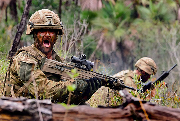 Royal Marine with L85A3